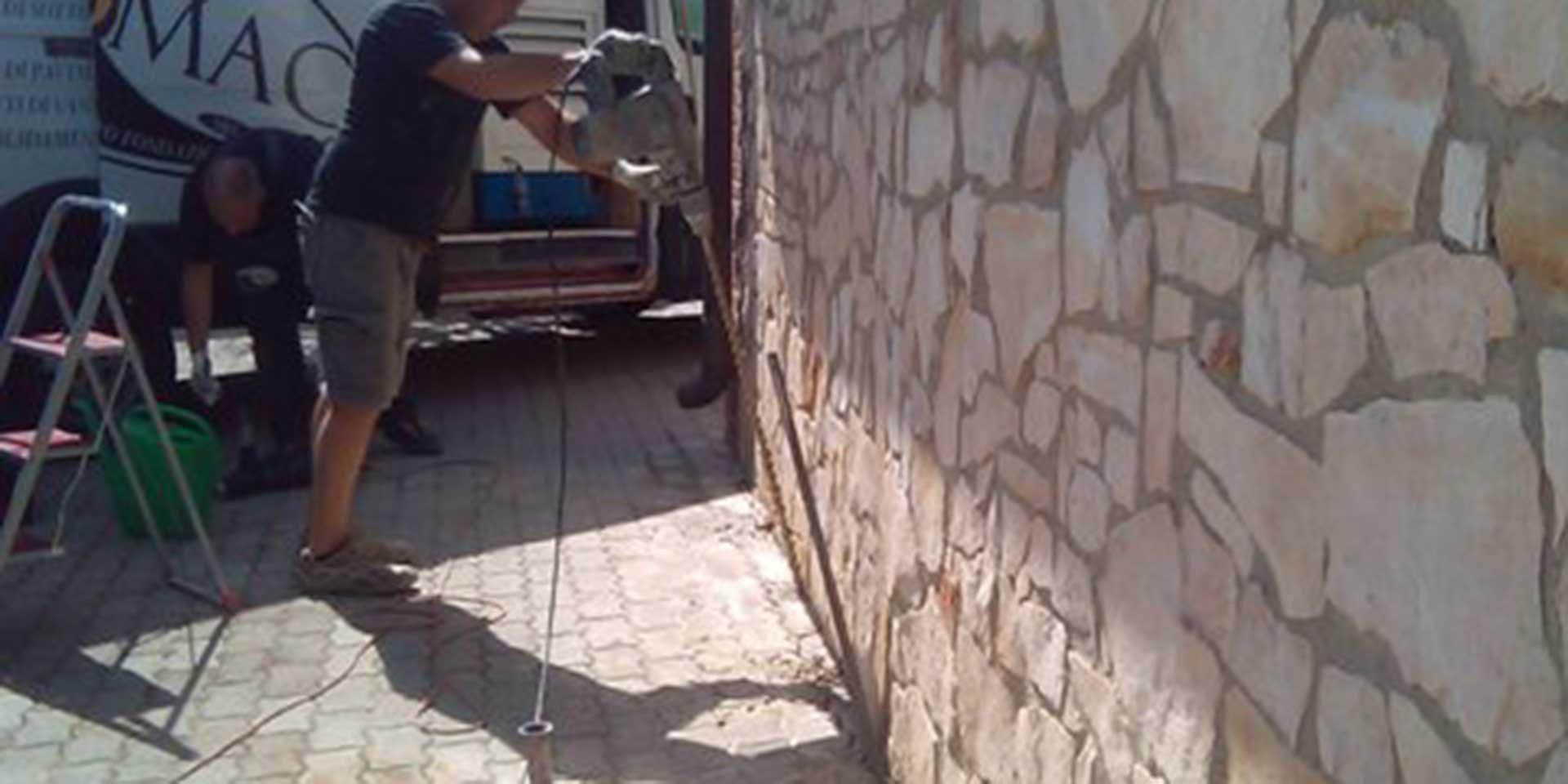rimuovere crepe nei muri