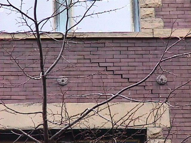 lesioni alle pareti esterne